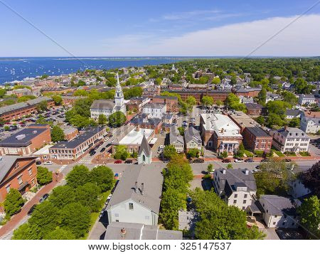 Newburyport Historic Downtown Including State Street And First Religious Society Unitarian Universal