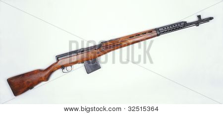 WW11 Russian SVT M1940 rifle. Magazine fed self loading rifle used by NCOs and specialist infantry. poster