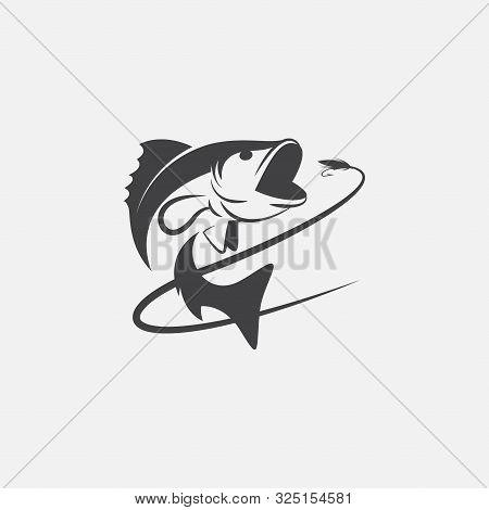 Unique Fishing Logo Template, Memorable Fishing Logo Icon. Fishing Vector Graphic Illustration