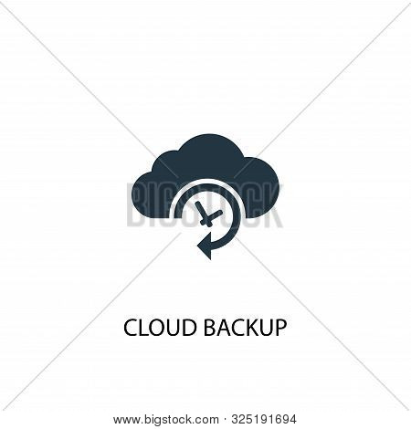 Cloud Backup Icon. Simple Element Illustration. Cloud Backup Concept Symbol Design. Can Be Used For