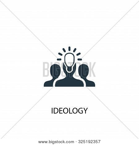 ideology icon. Simple element illustration. ideology concept symbol design. Can be used for web poster