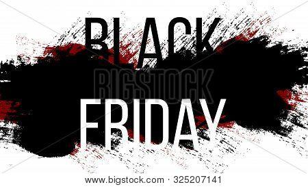 Black Friday Sale Banner Template Design. Black Friday Design. Vector Illustration.
