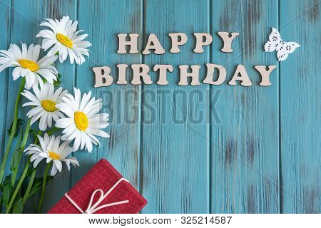 Happy Birthday To You. Birthday Card Design With Flowers For Birthday. Birthday Card For Mother, Gir
