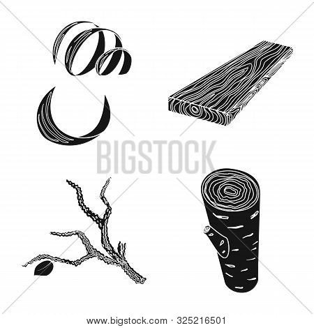Vector Illustration Of Hardwood And Construction Logo. Set Of Hardwood And Wood Stock Vector Illustr