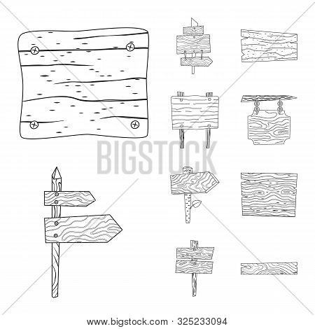 Isolated Object Of Hardwood And Material Icon. Collection Of Hardwood And Wood Stock Symbol For Web.