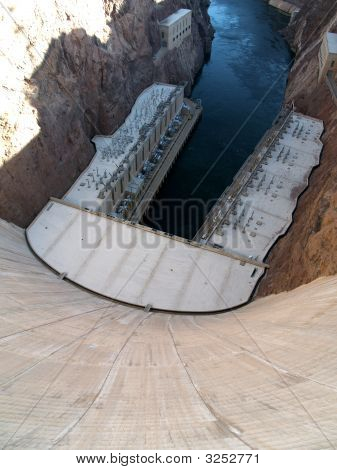 Steep Drop Down The Hoover Dam