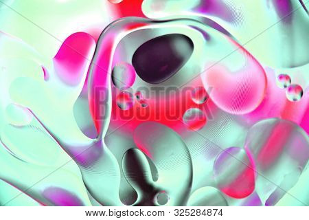 Background, Multicolored Balls And Shapeless Stains, Blur, Texture, Heterogeneous Color,