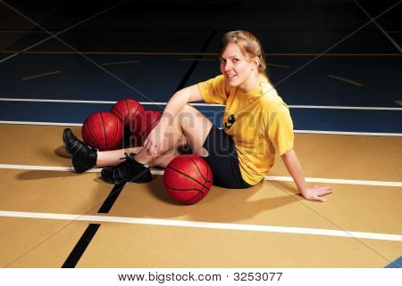 Smiling Basketball Player
