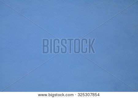 Blue Wall, Texture, Background. The Building Wall, Painted With Water-based Paint. Smooth (flat) Sur