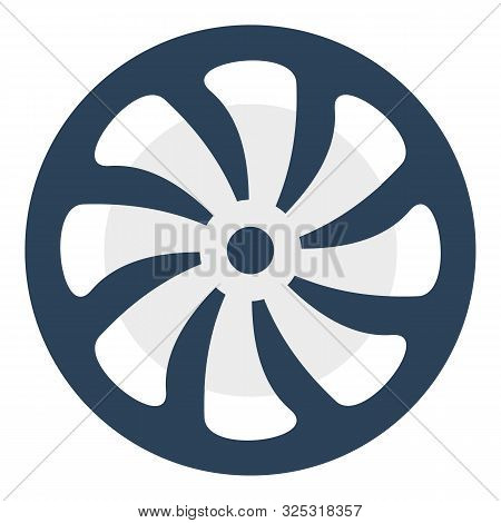 Computer Fan Icon. Flat Illustration Of Computer Fan Vector Icon For Web Design