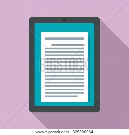 Reader Tablet Icon. Flat Illustration Of Reader Tablet Vector Icon For Web Design