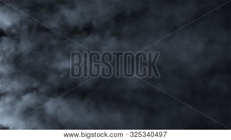 Fast Moving Puffs Of Smoke On An Isolated Black Background. Atmospheric Smoke 4k Fog Effect. Vfx Ele