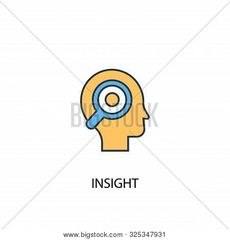 Insight Concept 2 Colored Line Icon. Simple Yellow And Blue Element Illustration. Insight Concept Ou