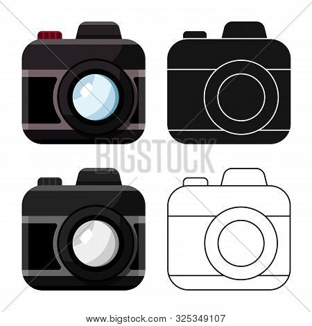 Vector Design Of Camera And Photo Icon. Set Of Camera And Dslr Stock Symbol For Web.