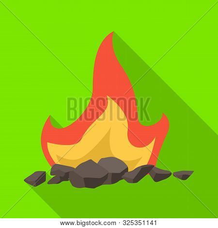 Isolated Object Of Blaze And Fiery Symbol. Collection Of Blaze And Firewood Stock Symbol For Web.