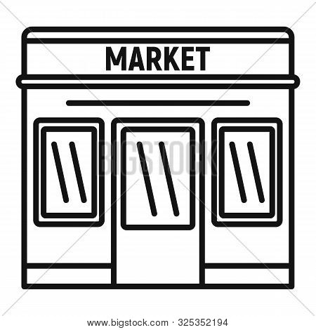 Retail shop, general store, local business, local marketplace, street market  icon