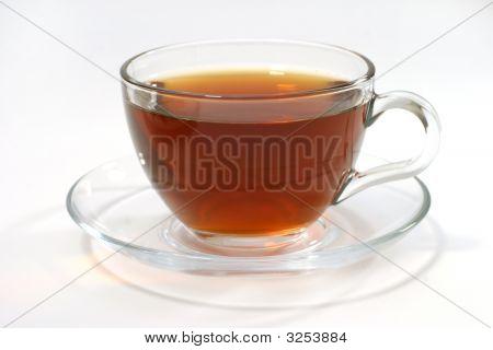 Hot Tea Inside Transparent Glass