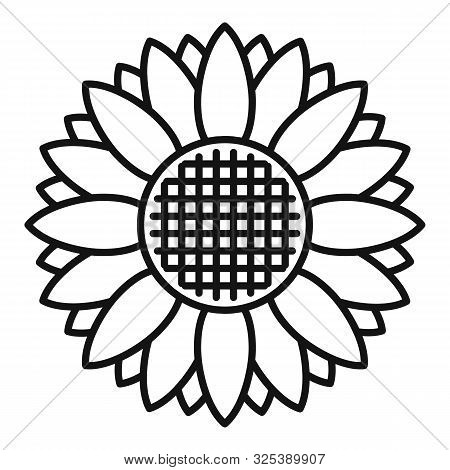 Helianthus Icon. Outline Helianthus Vector Icon For Web Design Isolated On White Background