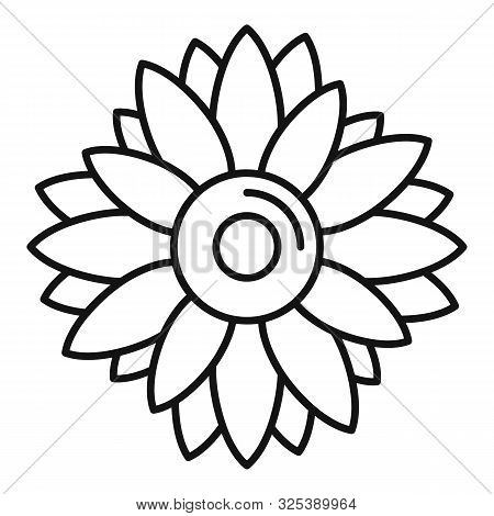 Helianthus Plant Icon. Outline Helianthus Plant Vector Icon For Web Design Isolated On White Backgro