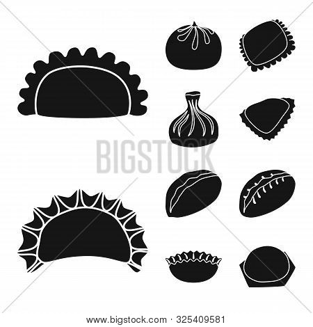 Vector Design Of Cuisine And Appetizer Icon. Collection Of Cuisine And Food Vector Icon For Stock.