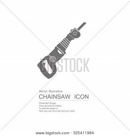 Vector Drawn Reciprocating Saw. Isolated On White Background.