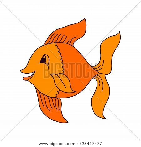 Catching Bass Fish. Fish Color. Vector Fish. Graphic Fish. Fish On A White Background. Fish On A Lig