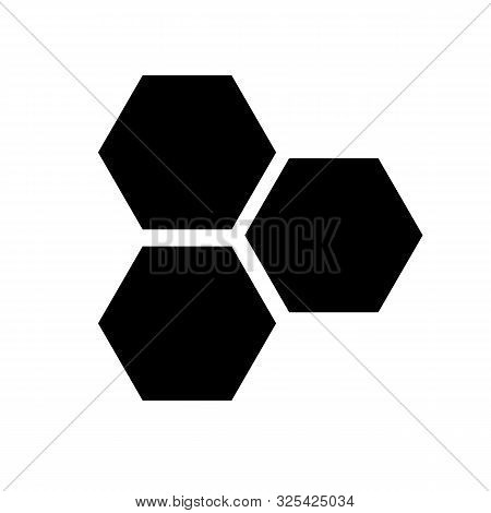 Honeycombs Icon On White Background. Flat Style. Three Hexagons Cell Icon For Your Web Site Design,