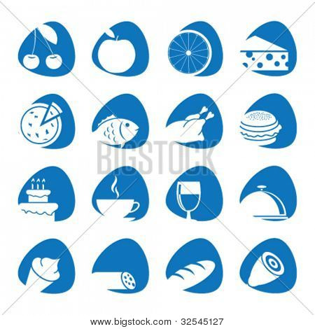 Vector illustration icons on food