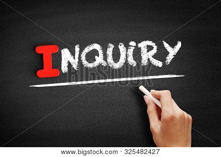 Inquiry Text On Blackboard, Business Concept Background