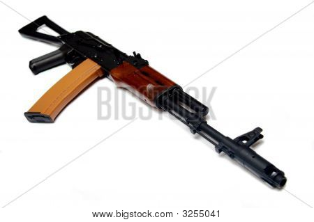 Legendary Kalashnikov, Ak-74. Modern Rifle Of Russian Army.