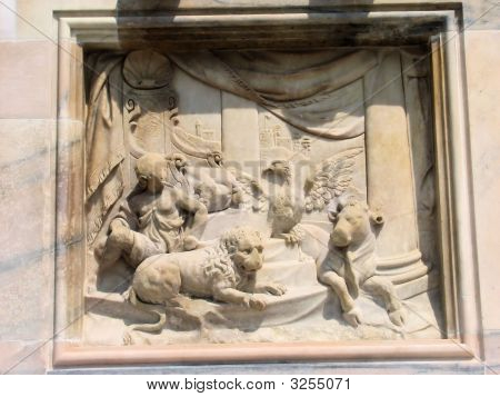 Milan Cathedral Four Evangelist Engraving