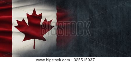 Canadian National Holiday. Canadian Flag Background With Maple Leaf And National Colors. Illustratio