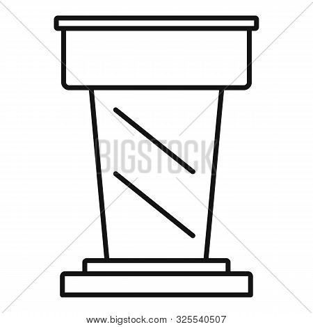 Lawyer Tribune Icon. Outline Lawyer Tribune Vector Icon For Web Design Isolated On White Background