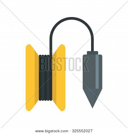 Gravity Line Tool Icon. Flat Illustration Of Gravity Line Tool Vector Icon For Web Design