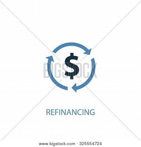 Refinancing Concept 2 Colored Icon. Simple Blue Element Illustration. Refinancing Concept Symbol Des