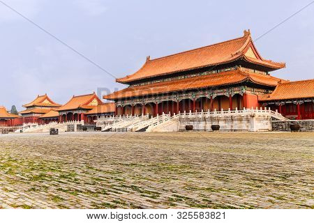 Beijing, China - September 20, 2014; The Ancient Royal Palaces - Forbidden City In Beijing.