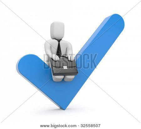 Success concept. Image contain clipping path