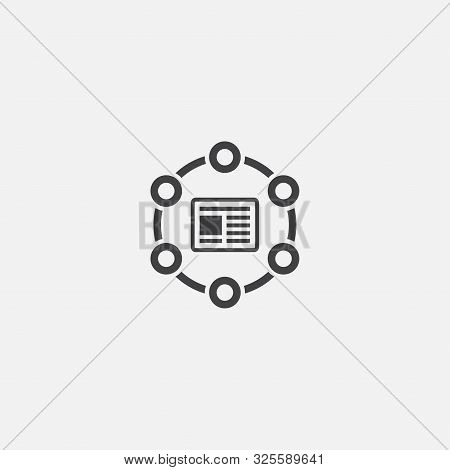 Cms Base Icon. Simple Sign Illustration. Cms Symbol Design. Can Be Used For Web And Mobile