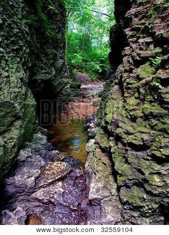 Narrow Gorge In Bourbonnais Illinois