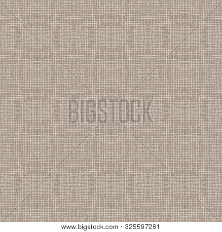Hand Drawn Fabric Textile Seamless Pattern. Burlap Hessian Fibre Textured In Brown, Gray, Ecru Neutr