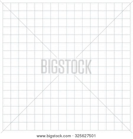 Gray Square Grid Pattern Small Dotted Line Closeup Template. Matematic Grid Background.