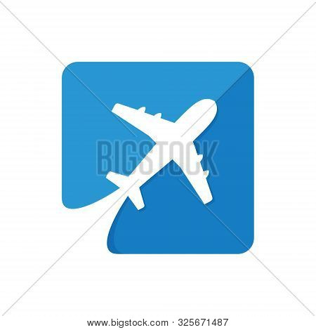 Airplane Icon Vector Isolated On White Background, Airplane Icon Simple Sign. Airplane Logo Vector I
