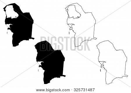 Balkan Region (republic Of Turkmenistan, Districts Of Turkmenistan) Map Vector Illustration, Scribbl