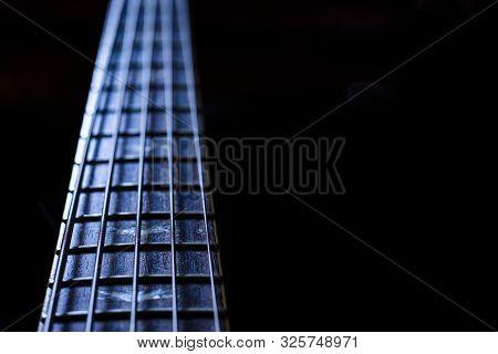 Guitar Strings Close Up,guitar Fret Board,bass Guitar