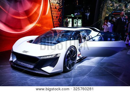 Frankfurt Am Main, Germany - September 17, 2019: World Premiere Of The Concept Car Audi Ai:race At T