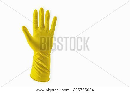 Yellow Household Rubber Glove Single For Cleaning Disposable Pattern Bright Coloured