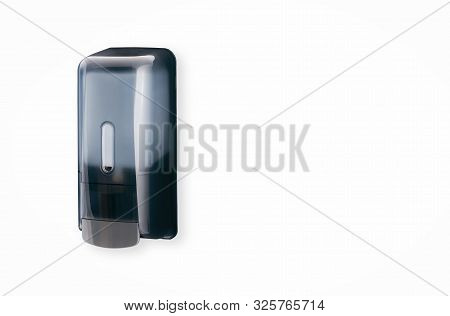 Grey Smoke Liquid Hand Soap Dispenser Plastic Mounted On Wall Refillable Large