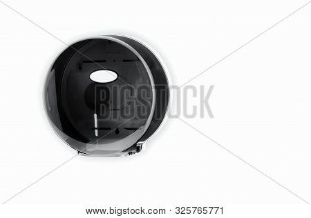 Black Bathroom Tissue Jumbo Dispenser Plastic Mounted On Wall 9 Inche