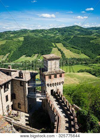Medieval Fortress Vigoleno In The Emilia-romagna Region, Italy