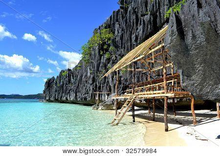 A hut in Coron Island, Philipines.